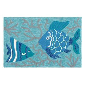 Go Fish Lake Rectangular: 2 Ft. x 3 Ft. Indoor/Outdoor Rug