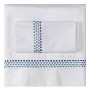 Jewels Blue Twin Sheet Set