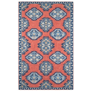 Old Glory Newport Red Rectangular: 4 Ft. x 6 Ft. Rug