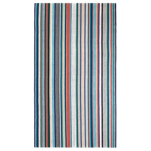 Farmhouse Stripe Multicolor Rectangular: 8 Ft. x 10 Ft. Indoor/Outdoor Rug