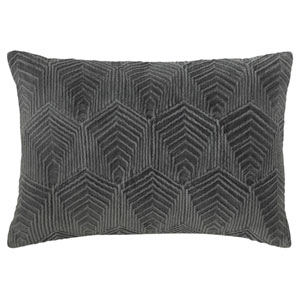 Sloan Velvet Gray 14 x 20 In. Pillow