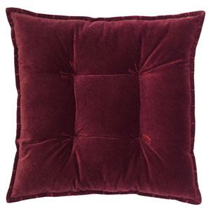 Talia Velvet Burgundy 20 In. Pillow