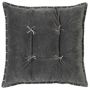 Talia Velvet Gray 20 In. Pillow