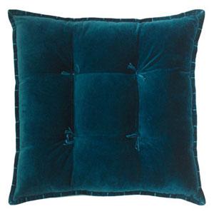 Talia Velvet Teal 20 In. Pillow