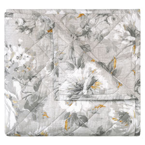 Moonlit Pewter Twin Quilt