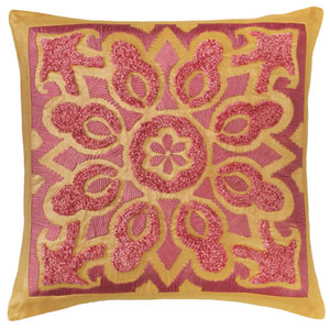 Cassandra Bittersweet 22 In. Throw Pillow with Down Insert