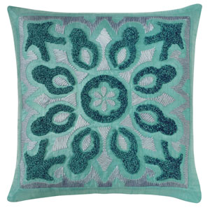 Cassandra Lake 22 In. Throw Pillow with Down Insert