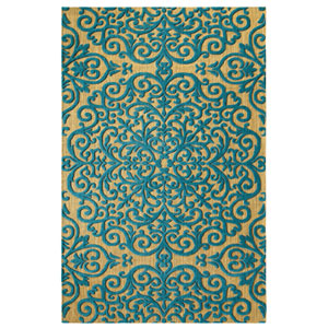 Centerpiece Blue Rectangular: 5 Ft. x 8 Ft. Indoor Rug
