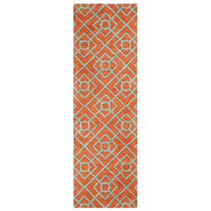 Diamond Lattice Coral Runner: 2 Ft. 6 In. x 8 Ft. Indoor Rug