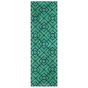 Diamond Lattice Green Runner: 2 Ft. 6 In. x 8 Ft. Indoor Rug