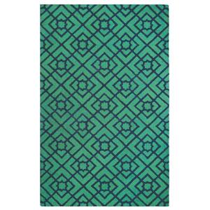 Diamond Lattice Green Rectangular: 3 Ft. x 5 Ft. Indoor Rug