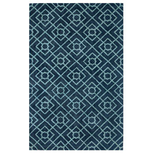 Diamond Lattice Navy Rectangular: 9 Ft. x 13 Ft. Indoor Rug