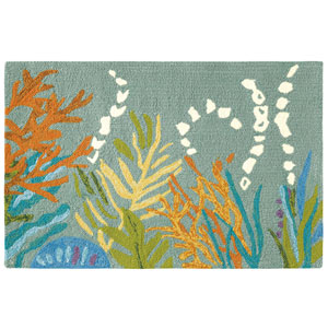 Under The Sea Lake Rectangluar: 2 Ft. x 3 Ft. Indoor/Outdoor Rug