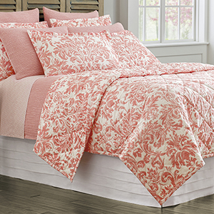 Kate Coral Twin Quilt