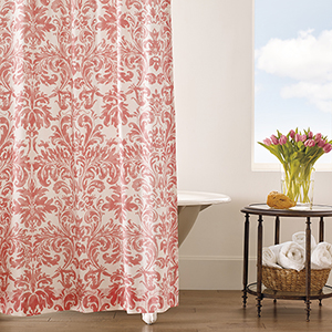 Kate Coral Shower Curtain