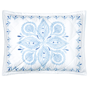 Emma Blue King Quilted Sham
