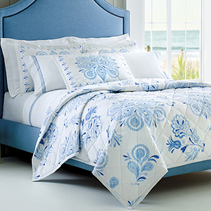 Emma Blue Twin Quilt