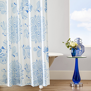Emma Blue Shower Curtain
