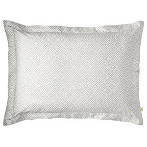 Diamond Lattice Pewter Standard Duvet Sham