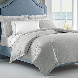Diamond Lattice Pewter Twin Duvet
