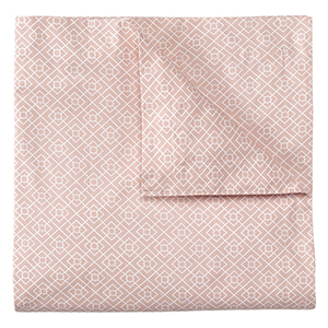 Diamond Lattice Blush Full/Queen Duvet