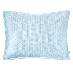 Diamond Lattice Lake King Quilted Sham