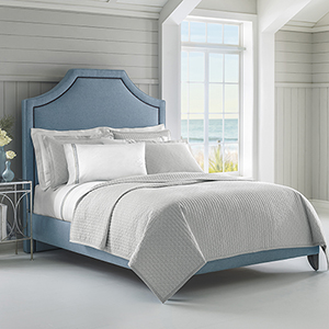 Diamond Lattice Pewter Twin Quilt