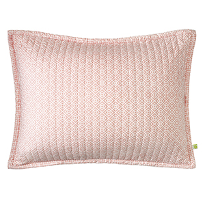 Diamond Lattice Blush King Quilted Sham