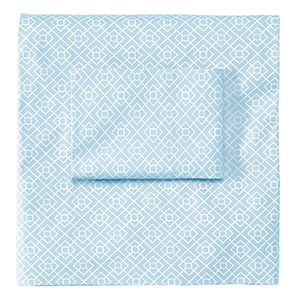 Diamond Lattice Lake Twin Sheet Set