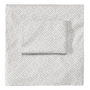 Diamond Lattice Pewter King Sheet Set