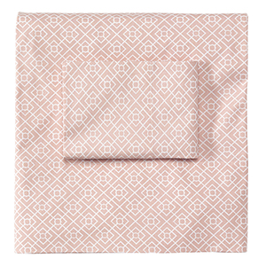Diamond Lattice Blush Twin Sheet Set