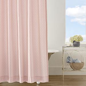 Diamond Lattice Blush Shower Curtain