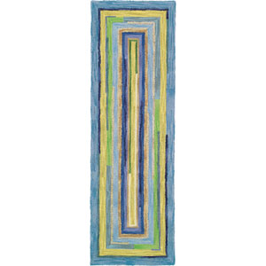 Concentric Squares Sky Runner: 2 Ft. 6 In. x 8 Ft. Rug