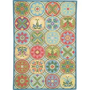 Stepping Stones  Multicolor Rectangular: 6 Ft. x 9 Ft. Rug