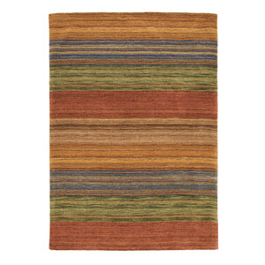 Brushstroke Multicolor Rectangular: 3 Ft. x 5 Ft. Rug