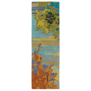Landscape Teal Runner: 2 Ft. 6 In. x 8 Ft. Rug