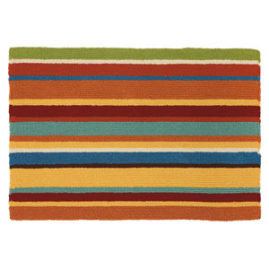 Cabana Stripe Orange Rectangular: 2 Ft. x 3 Ft. Indoor/Outdoor Rug