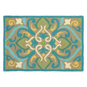 Morocco Aqua Rectangular: 2 Ft. x 3 Ft. Indoor/Outdoor Rug