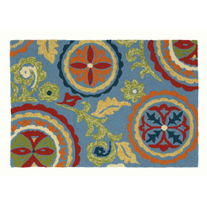 Fair Winds Blue Rectangular: 2 Ft. x 3 Ft. Indoor/Outdoor Rug
