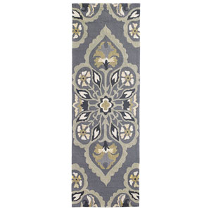 Pierre Pewter Runner: 2 Ft. 6 In. x 8 Ft. Indoor/Outdoor Rug
