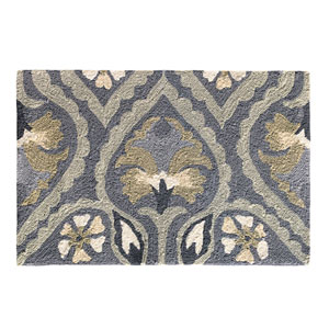 Pierre Pewter Rectangular: 2 Ft. x 3 Ft. Indoor/Outdoor Rug