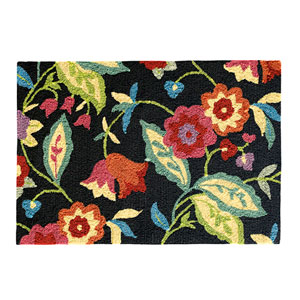 Samantha Black Rectangular: 2 Ft. x 3 Ft. Indoor/Outdoor Rug