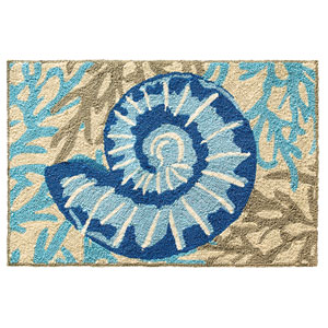 Adrift Blue Rectangular: 2 Ft. x 3 Ft. Indoor/Outdoor Rug