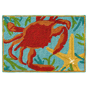 Sealegs Multicolor Rectangular: 2 Ft. x 3 Ft. Indoor/Outdoor Rug