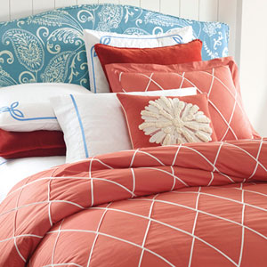 Calypso Red Twin Duvet