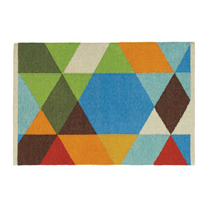 Make a Point Multicolor Rectangular: 2 Ft. x 3 Ft. Indoor/Outdoor Rug