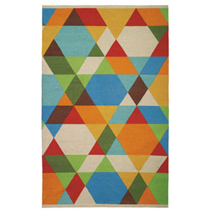 Make a Point Multicolor Rectangular: 5 Ft. x 8 Ft. Indoor/Outdoor Rug