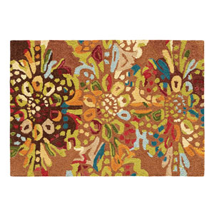 Drip and Splash Toffee Rectangular: 2 Ft. x 3 Ft. Rug