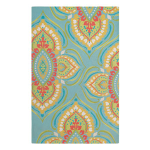 Namaste Aqua Rectangular: 5 Ft. x 8 Ft. Rug