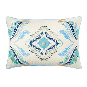 Linea Ivory 14 x 20 In. Throw Pillow with Down Insert